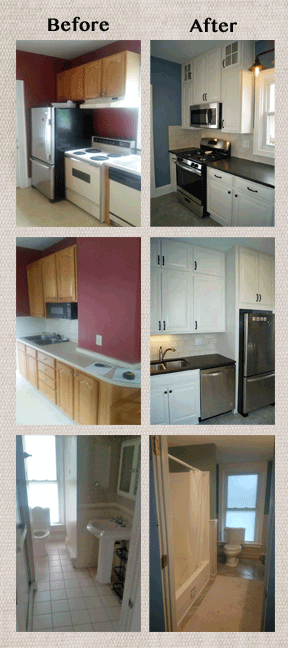 Remodel picture collage